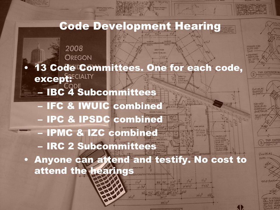 Code Development Hearing