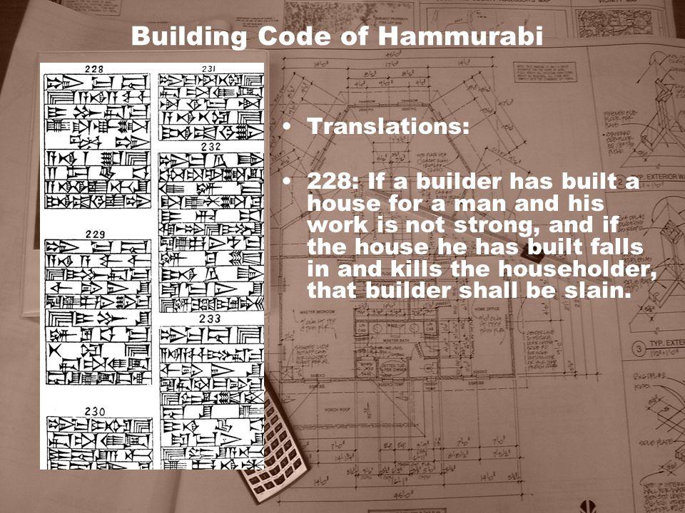Building Code of Hammurabi