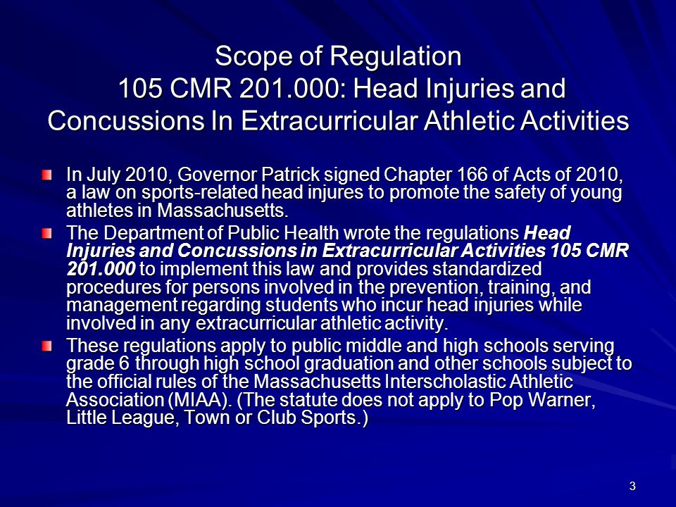 Scope of Regulation 105 CMR 201