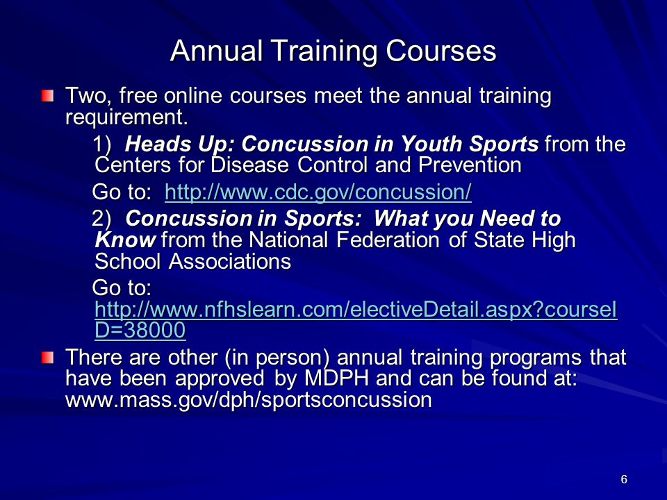 Annual Training Courses