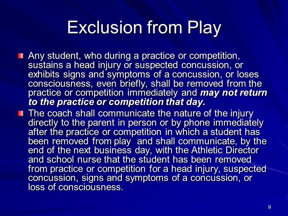 Exclusion from Play