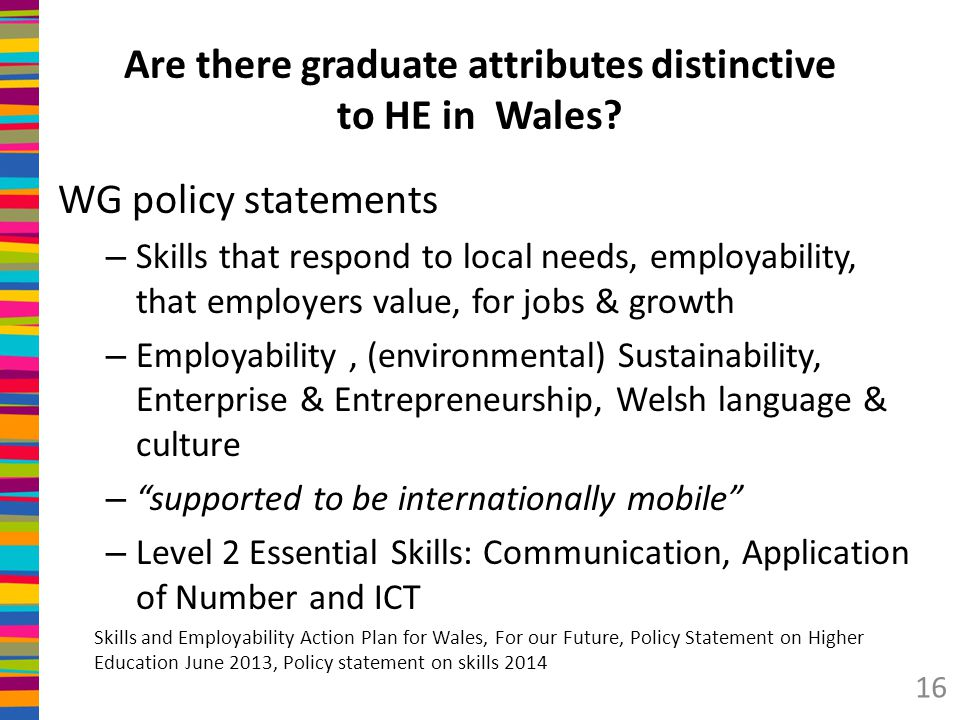 Are there graduate attributes distinctive to HE in Wales