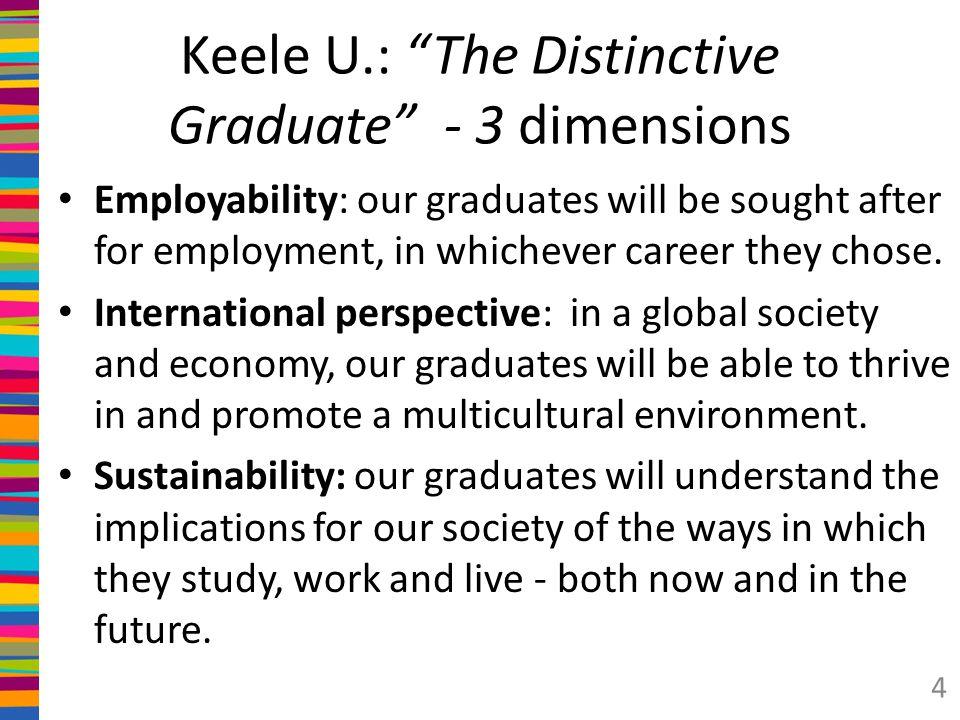 Keele U.: The Distinctive Graduate - 3 dimensions