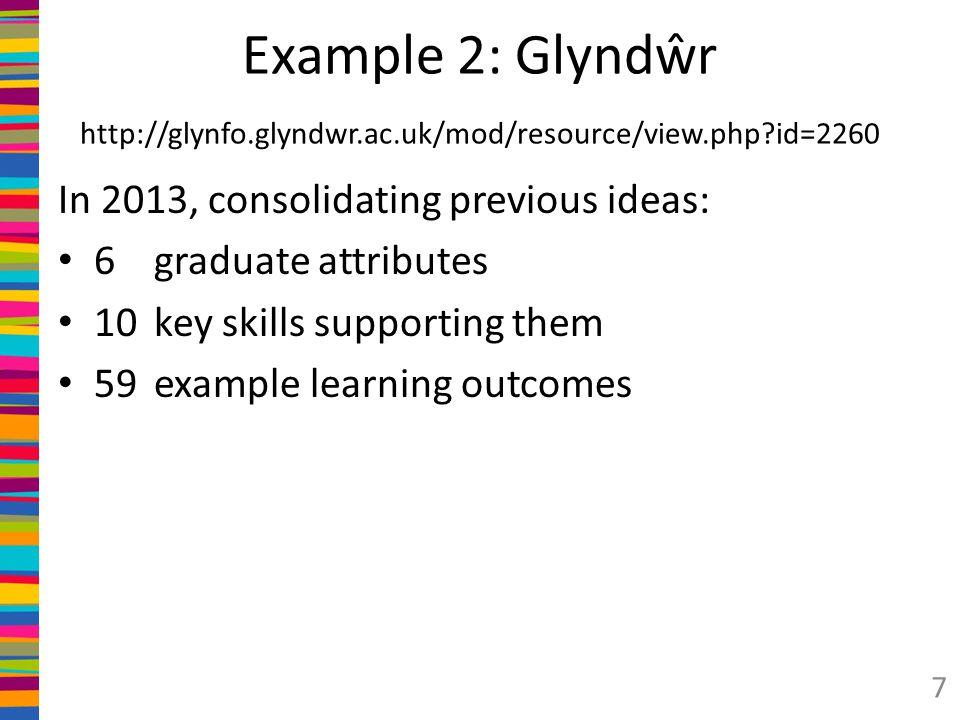 Example 2: Glyndŵr http://glynfo. glyndwr. ac. uk/mod/resource/view