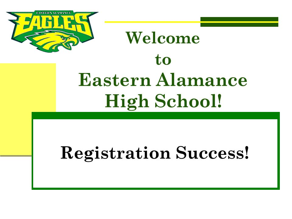 Welcome to Eastern Alamance High School!