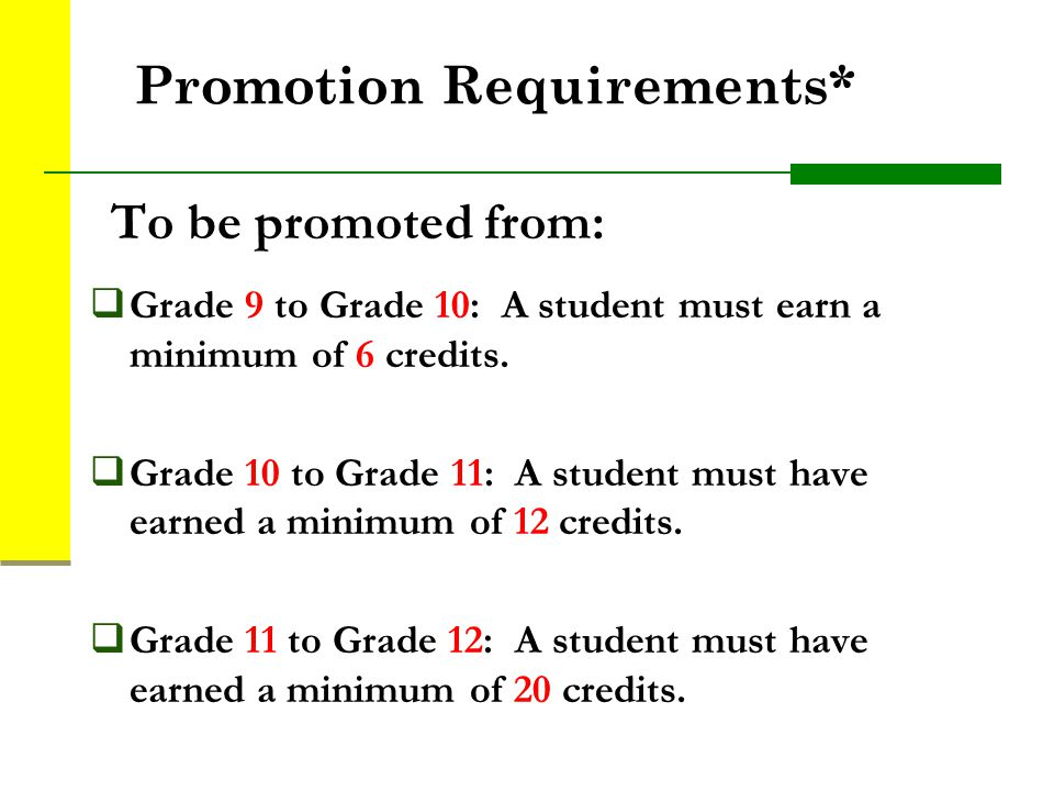 Promotion Requirements*