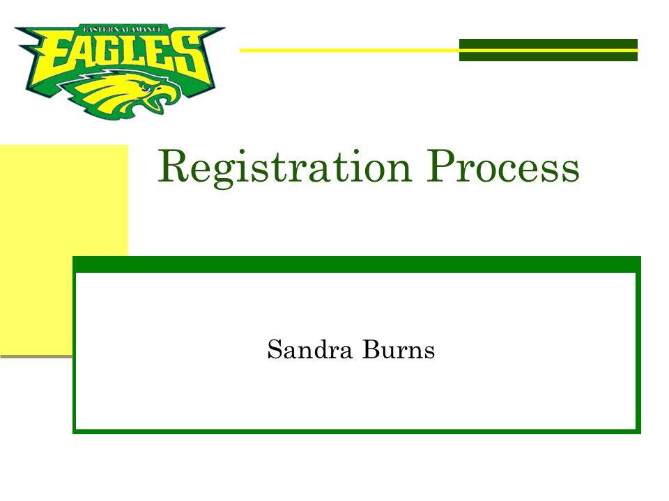 Registration Process Sandra Burns SANDRA