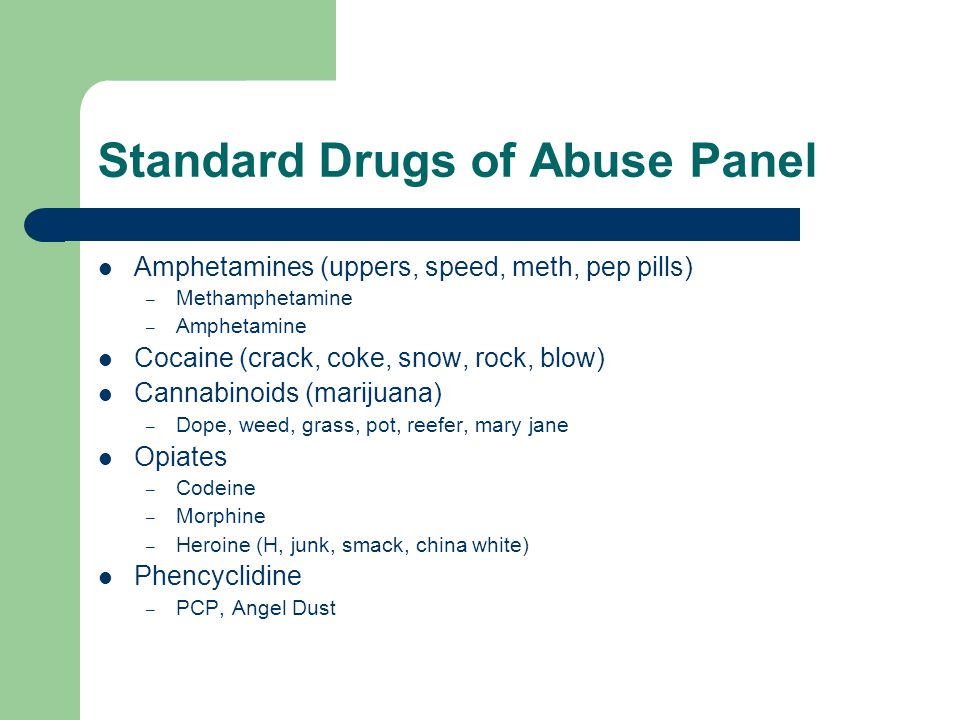 Standard Drugs of Abuse Panel