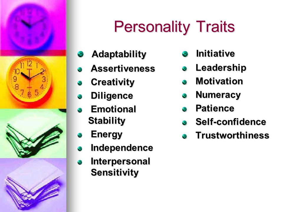 Personality Traits Adaptability Initiative Assertiveness Leadership