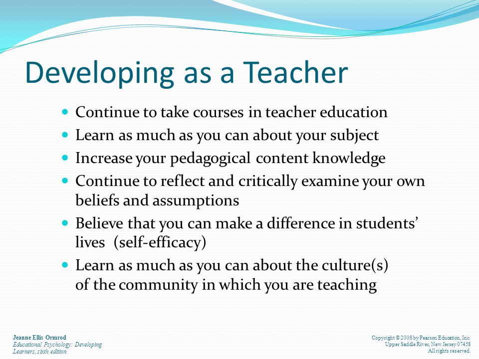 Developing as a Teacher