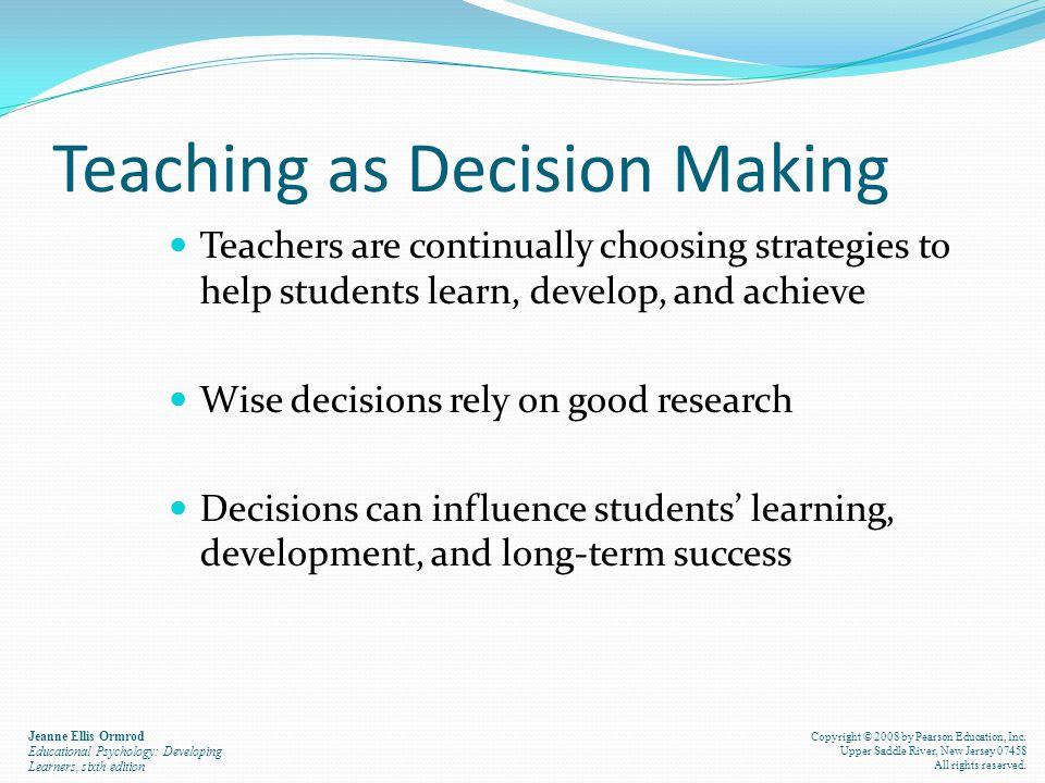 Teaching as Decision Making