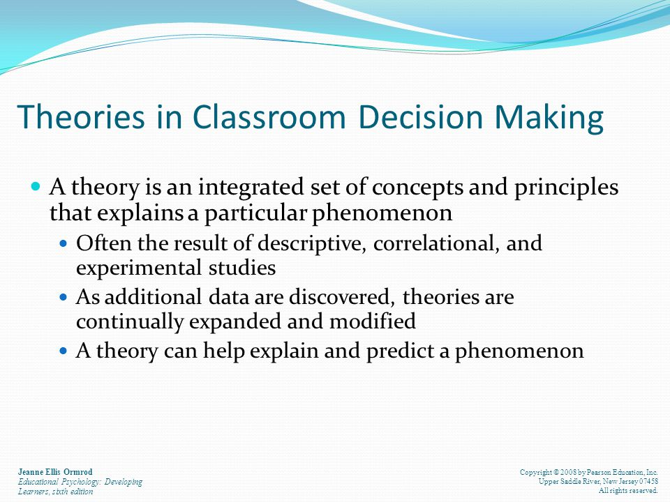Theories in Classroom Decision Making