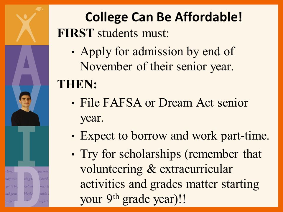 College Can Be Affordable!