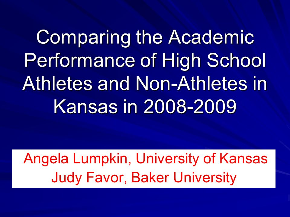 Angela Lumpkin, University of Kansas Judy Favor, Baker University