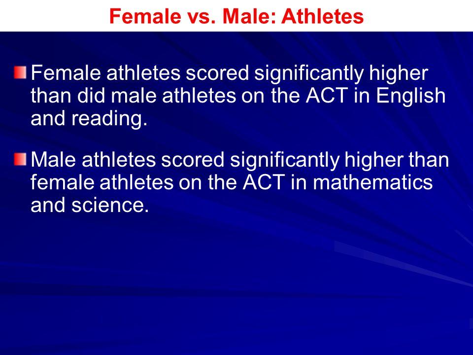 Female vs. Male: Athletes