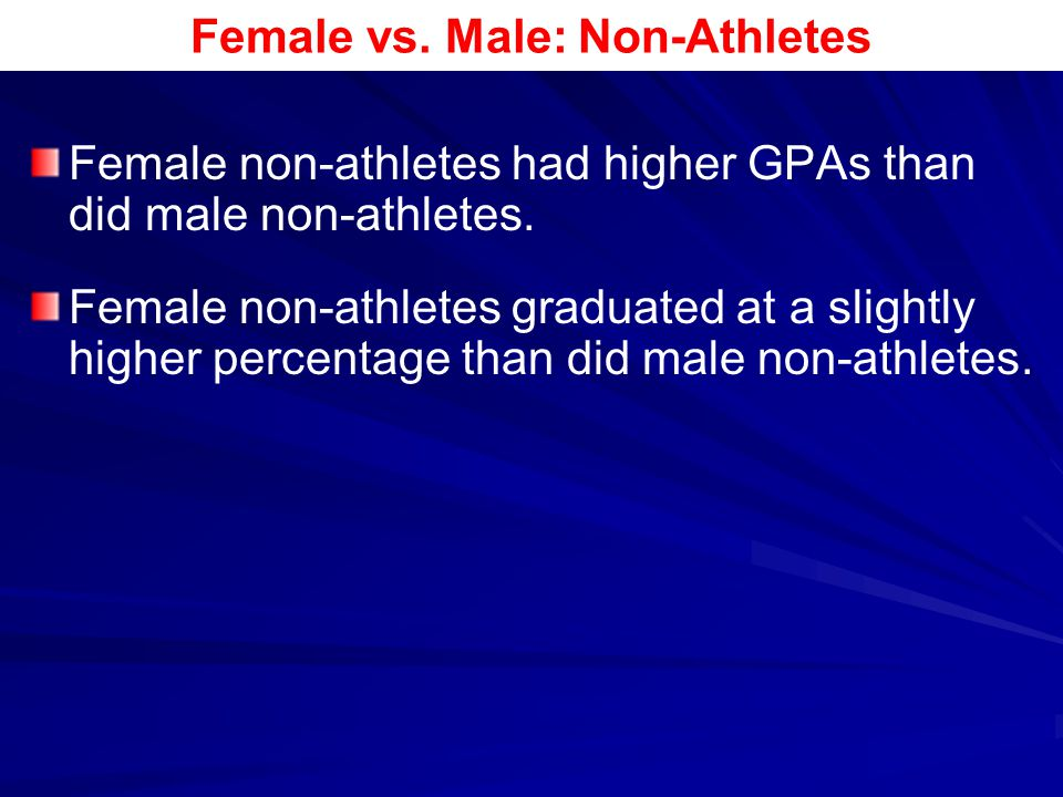 Female vs. Male: Non-Athletes
