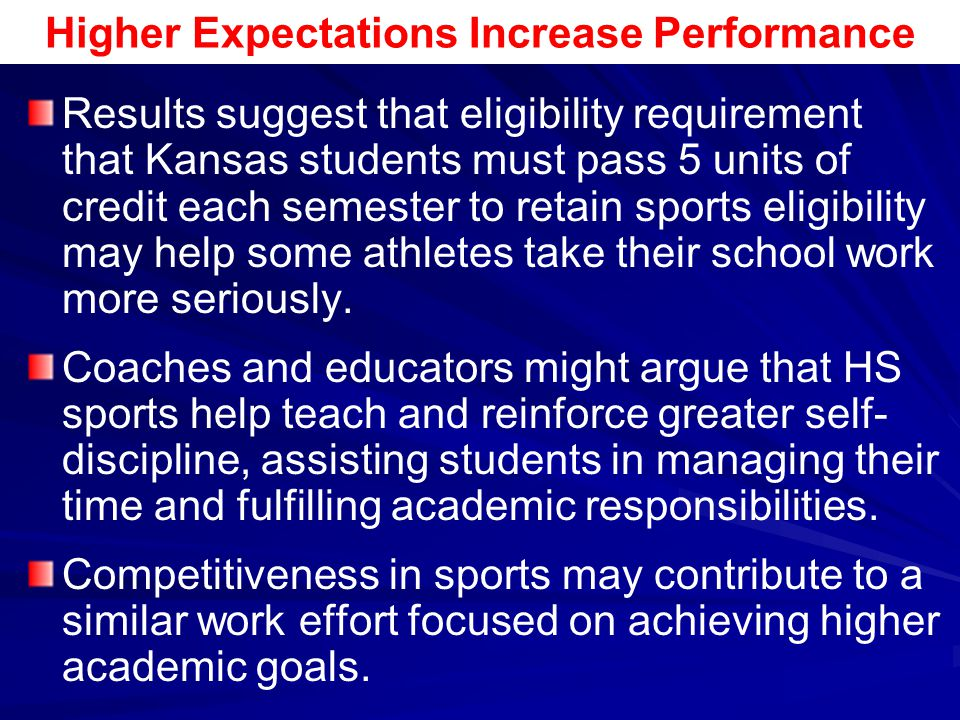 academic expectations of college athletes Study highlights 'emotional labor' of college student-athletes  to the public,  perform at the required level, or meet academic expectations.