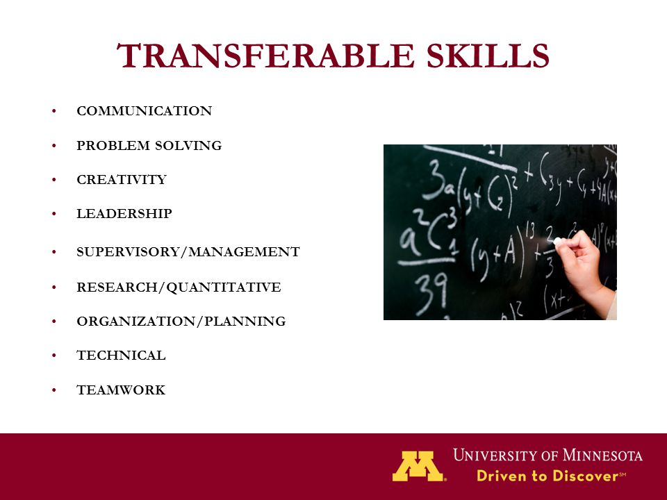 TRANSFERABLE SKILLS COMMUNICATION PROBLEM SOLVING CREATIVITY