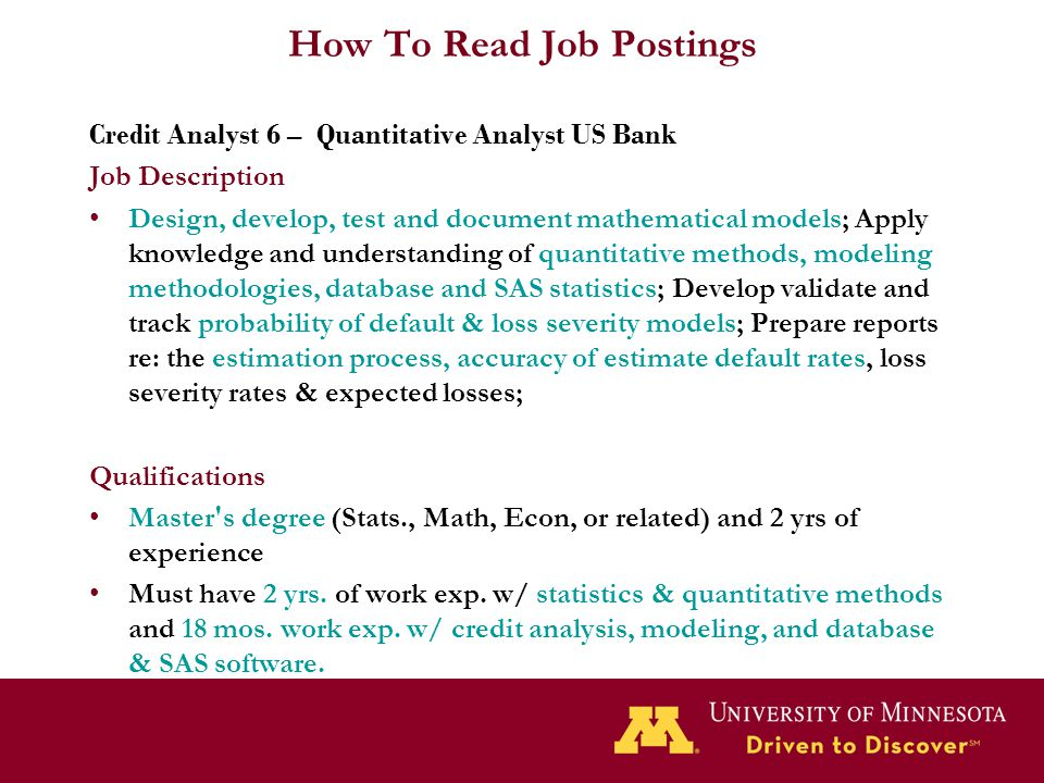 How To Read Job Postings