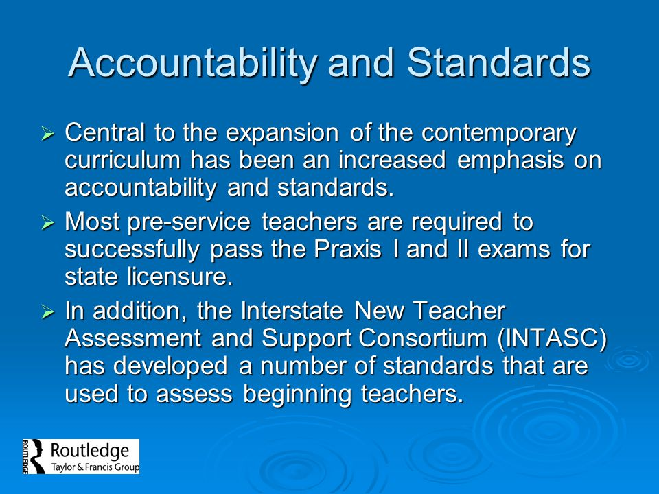 Accountability and Standards