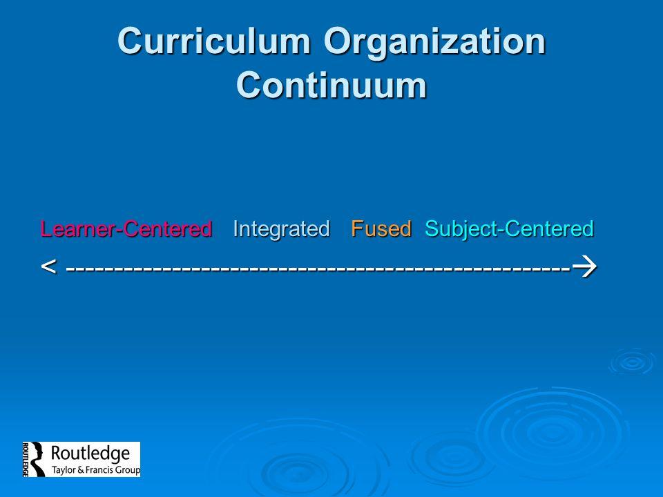 Curriculum Organization Continuum