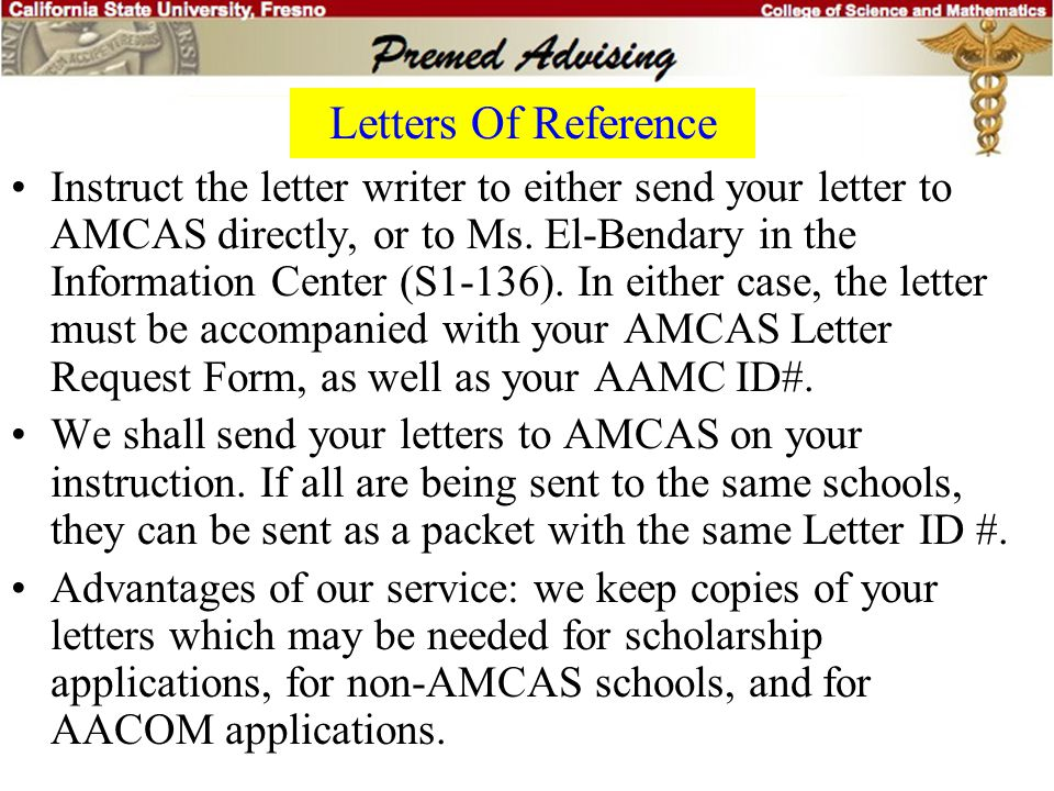Letters Of Reference