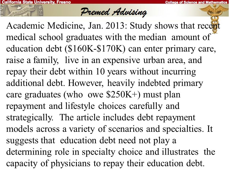Academic Medicine, Jan.