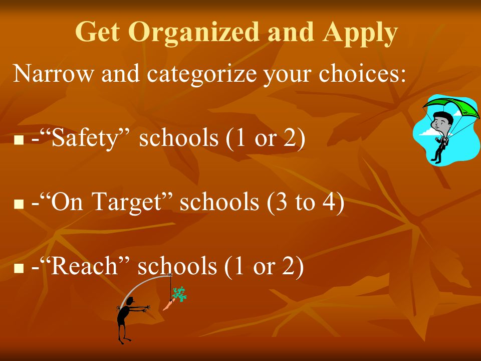 Get Organized and Apply