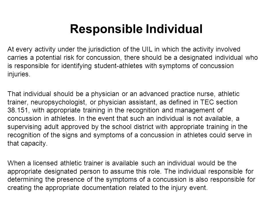 Responsible Individual