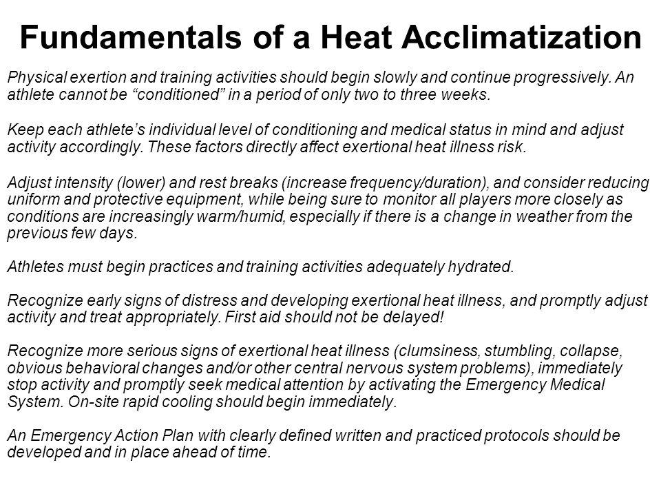 Fundamentals of a Heat Acclimatization