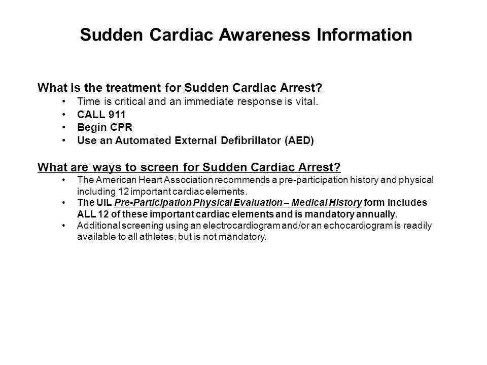 Sudden Cardiac Awareness Information