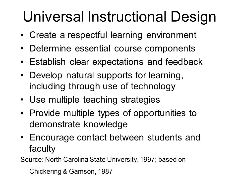 Universal Instructional Design
