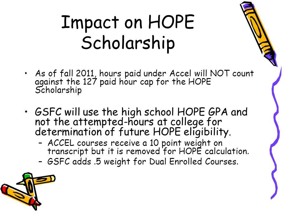 Impact on HOPE Scholarship