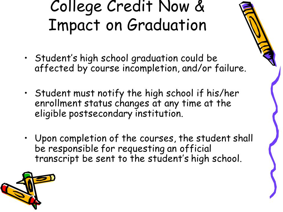 College Credit Now & Impact on Graduation