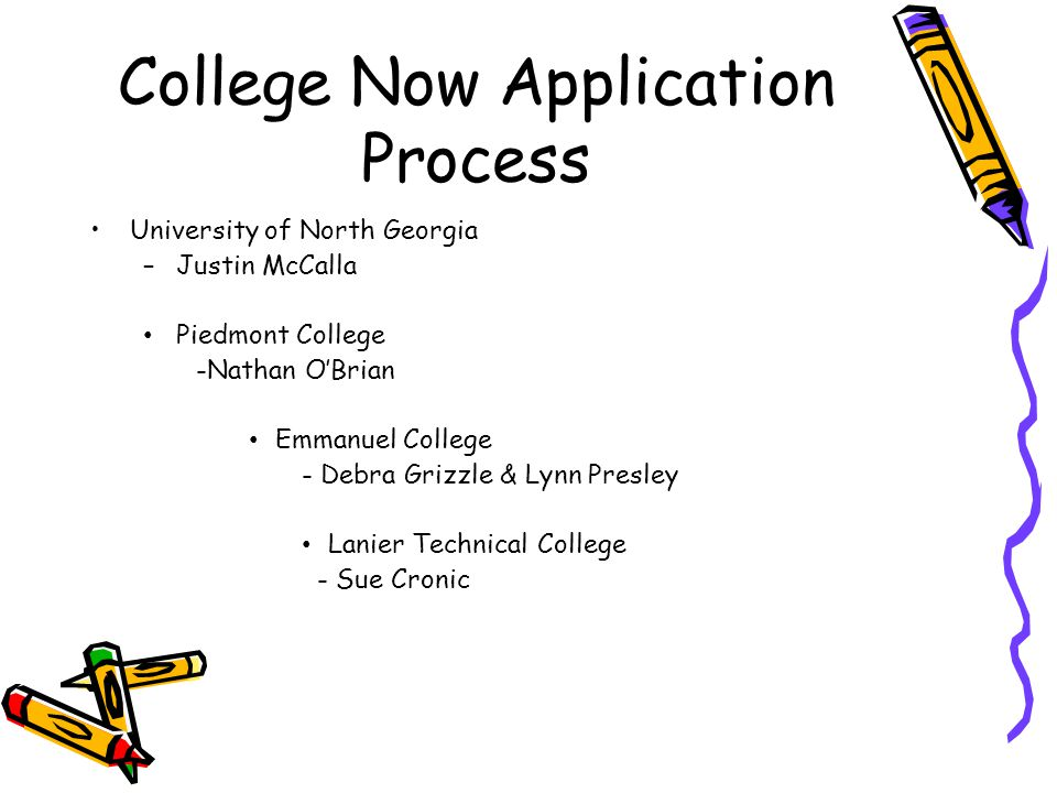 College Now Application Process