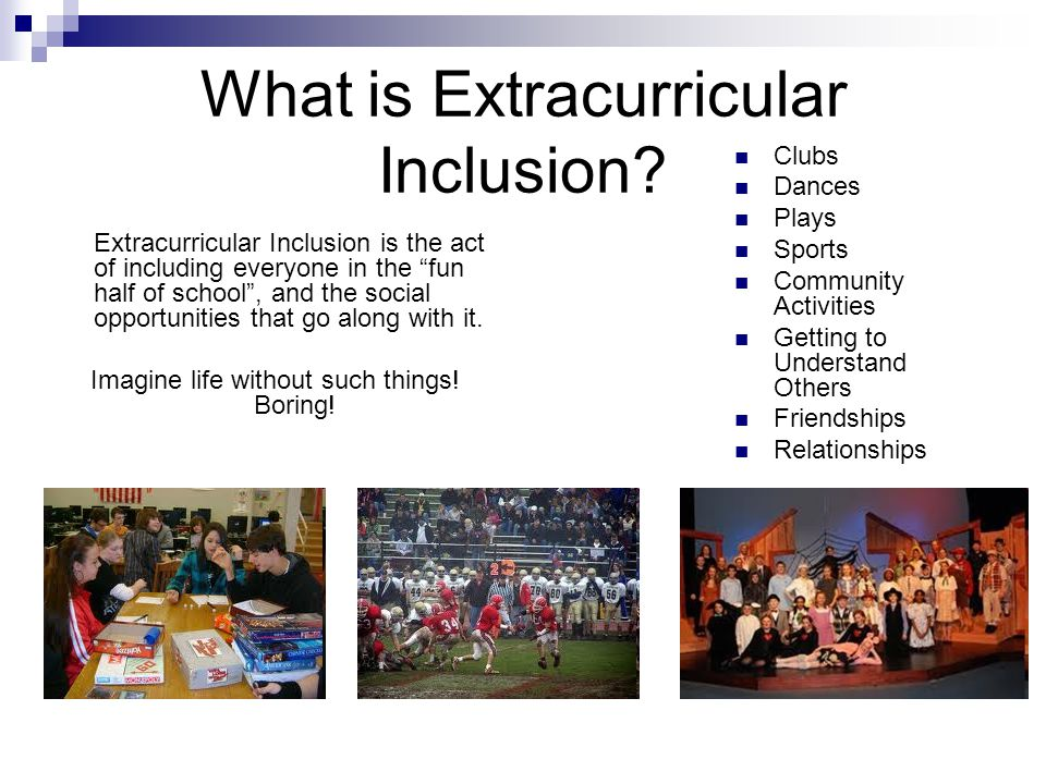 What is Extracurricular Inclusion