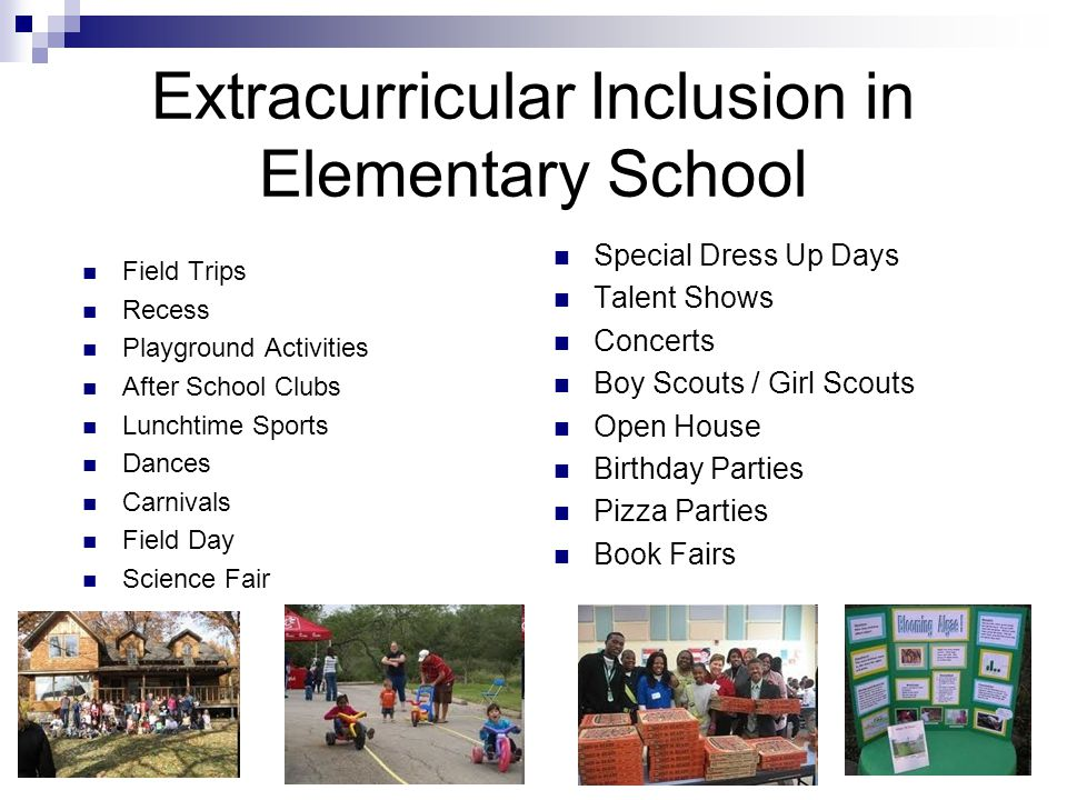 Extracurricular Inclusion in Elementary School