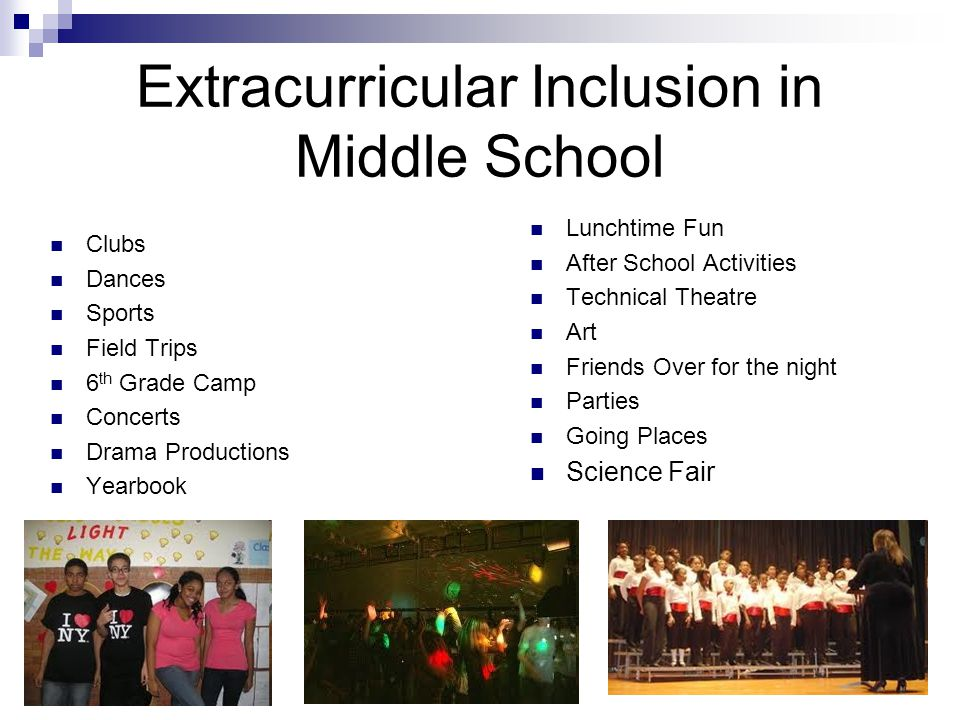Extracurricular Inclusion in Middle School