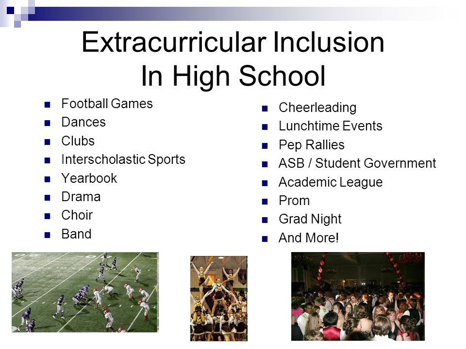 Extracurricular Inclusion In High School