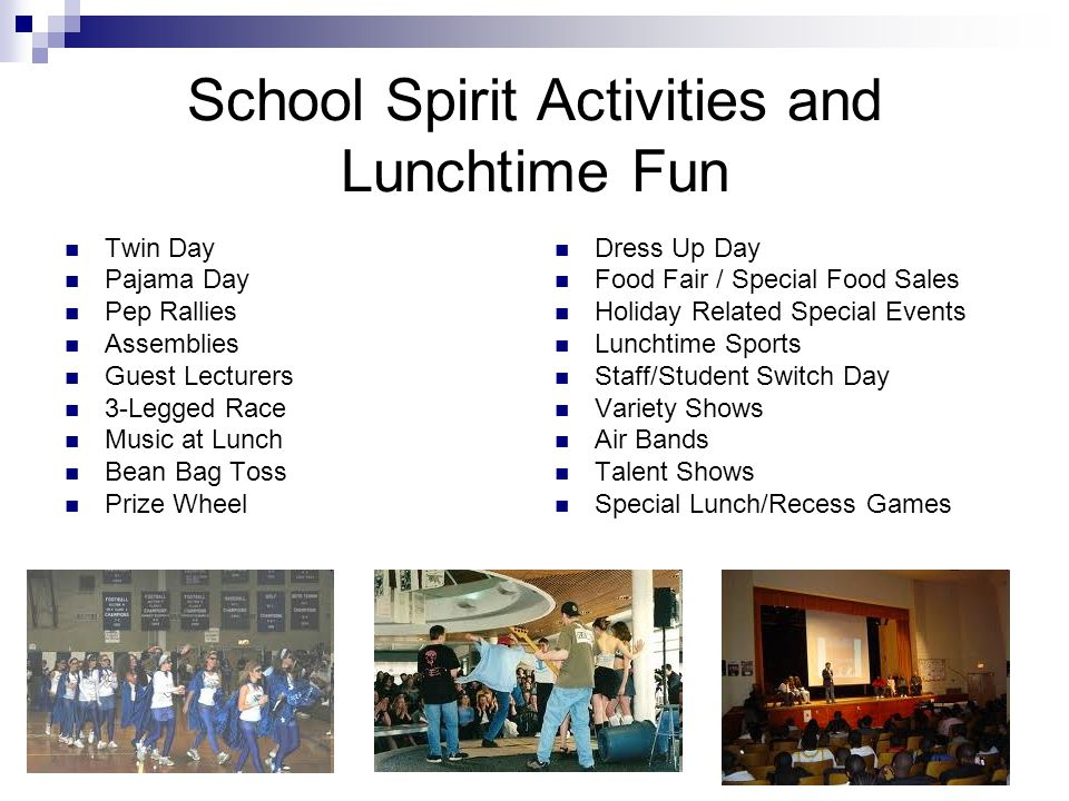 School Spirit Activities and Lunchtime Fun