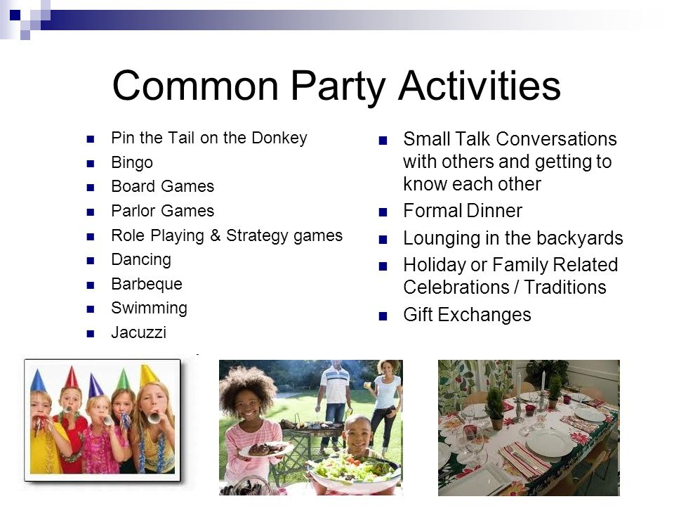 Common Party Activities