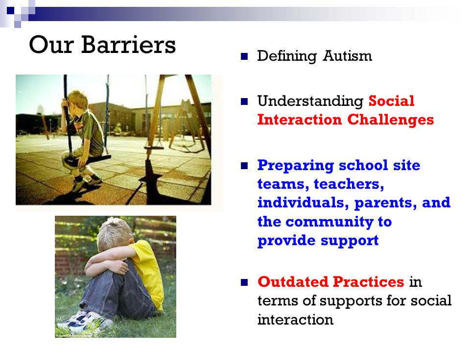 Our Barriers Defining Autism