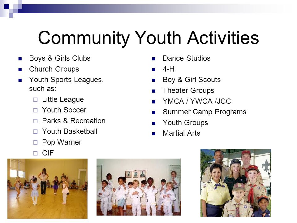 Community Youth Activities