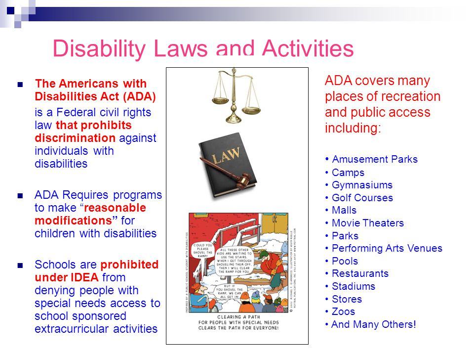 Disability Laws and Activities