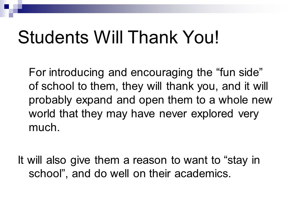 Students Will Thank You!