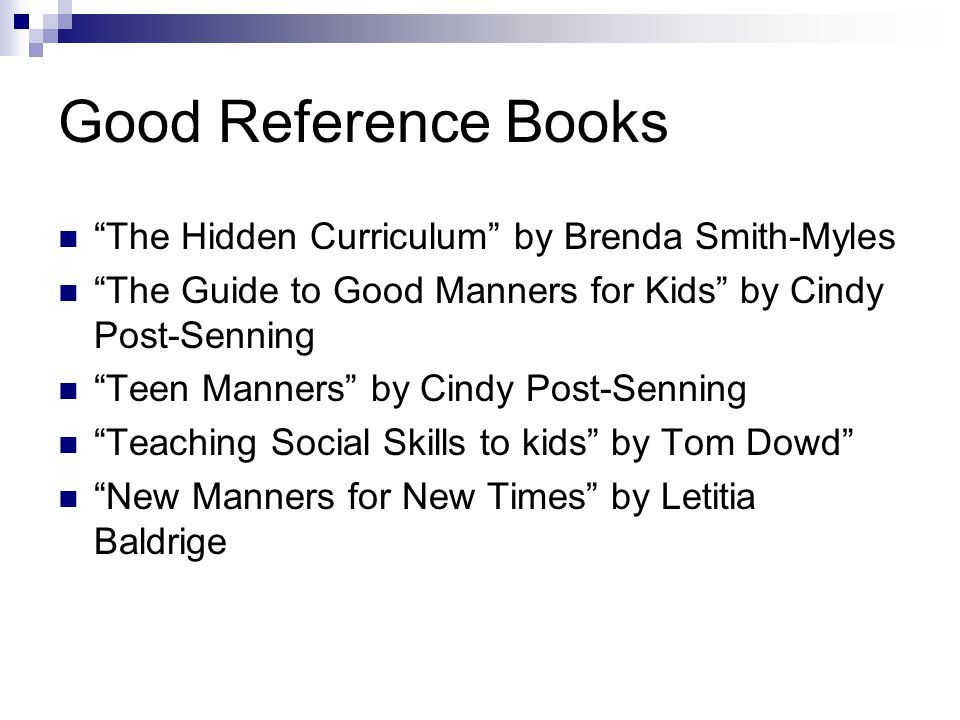 Good Reference Books The Hidden Curriculum by Brenda Smith-Myles