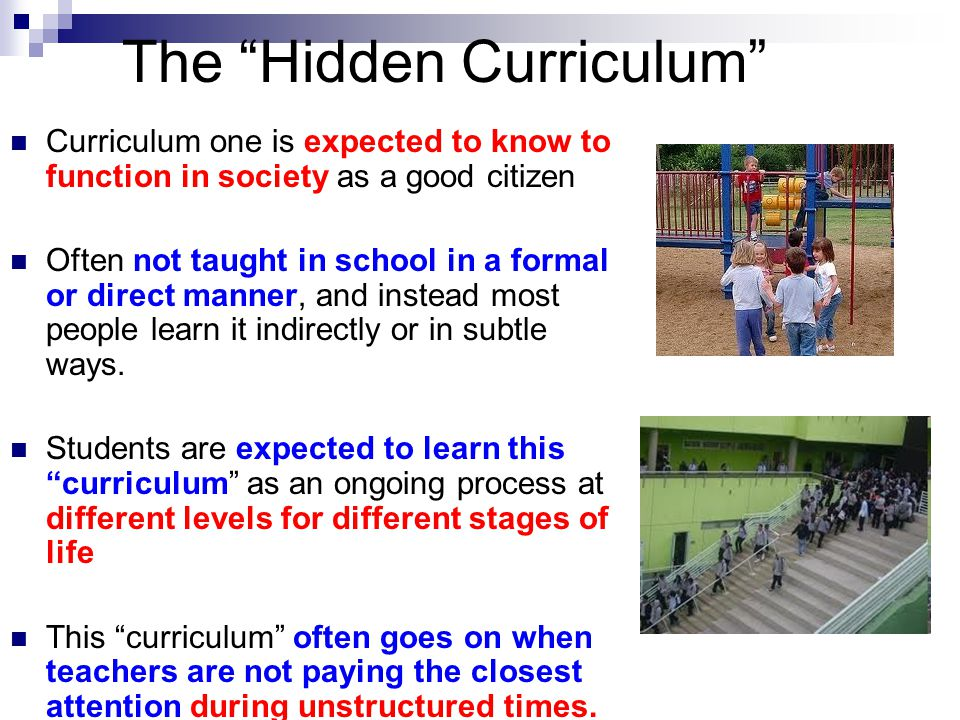 Hidden Curriculum Advantages Related Keywords & Suggestions