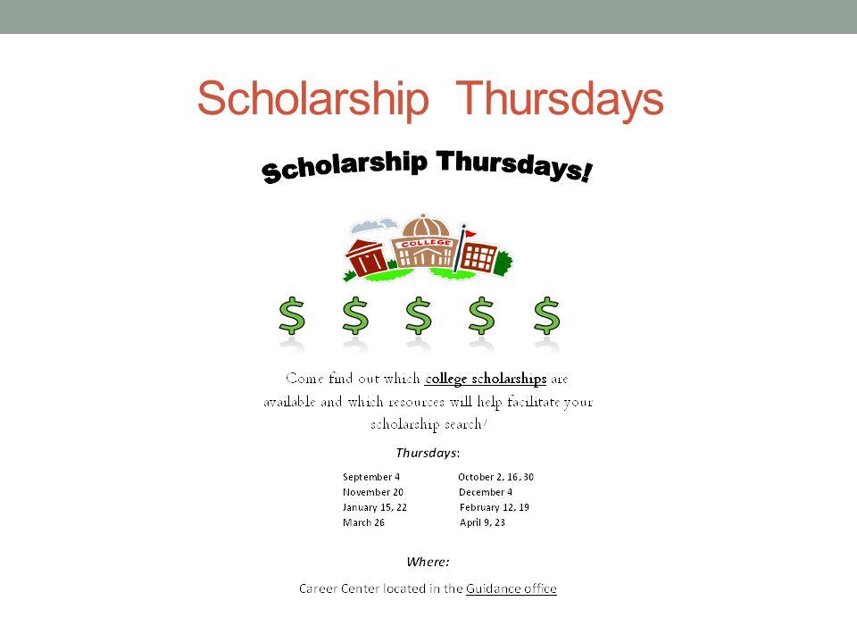 Scholarship Thursdays