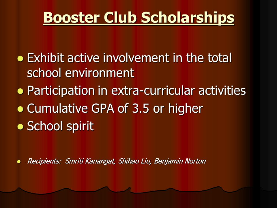 Booster Club Scholarships