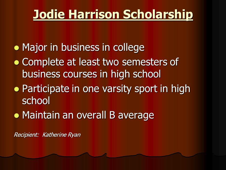 Jodie Harrison Scholarship